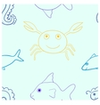 Sea life seamless vector image