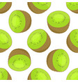 seamless pattern of kiwi vector image