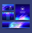 set abstract background templates vector image