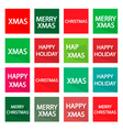 Set of 16 Merry Christmas Banner vector image vector image