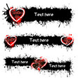 set of banners with valentine is day vector image vector image