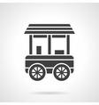 Shop trailer glyph style icon vector image vector image