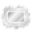 silver frame beautiful glitter design vintage vector image vector image