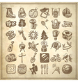 sketch doodle icon collection vector image vector image