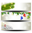 three christmas headers vector image