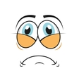 tired cartoon icon vector image