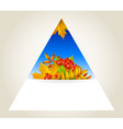 Triangular autumn background vector image vector image