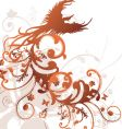 tribal floral bird design vector image vector image