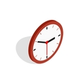 Wall clock icon isometric 3d style vector image