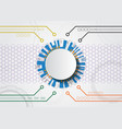white abstract futuristic technology vector image vector image