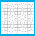 white jigsaw puzzle separate pieces with black vector image