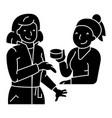 woman shop cosmetics consultant icon vector image