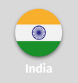 india flag round icon with shadow vector image