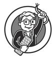 Cartoon IT-man vector image