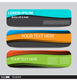Collection banners modern wave design colorful bac vector image