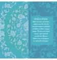 Beautiful wedding invitation brochure vector image