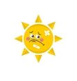 Cute sun vector image