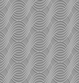 3D striped interlocking waves on gray vector image vector image