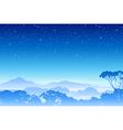 A Misty Forest Landscape vector image vector image
