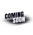 abstract coming soon halftone style background vector image vector image