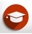 academic cap web icon vector image vector image