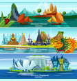 asian travel banners vector image