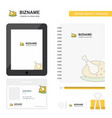 chicken meat business logo tab app diary pvc vector image vector image