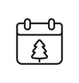 christmas day on calendar icon vector image