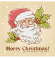 Christmas postcard with cute smiling santa claus vector | Price: 1 Credit (USD $1)