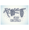 christmas spruce branch and inscription vector image