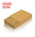 clear carton box vector image vector image