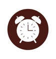 clock alarm isolated icon vector image