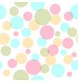 colorful circles seamless pattern vector image vector image