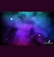 cosmos backdrop colorful galaxy with planet and vector image