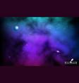 cosmos backdrop colorful galaxy with planet vector image vector image
