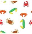 Crab pattern cartoon style vector image vector image