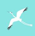 crane bird logo vector image vector image