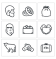 Custom wedding - bride price icons vector image vector image