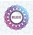 decorative arabic round lace ornate mandala vector image vector image