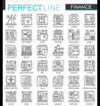 finance banking outline mini concept symbols vector image vector image