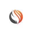 flame icon fire design vector image vector image