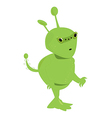 Green alien isolated vector image