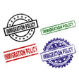 grunge textured immigration policy stamp seals vector image vector image