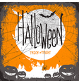 hallloween card design spider vector image vector image
