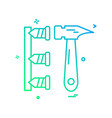 hammer labor nails icon design vector image
