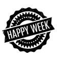 happy week rubber stamp vector image vector image