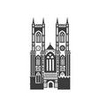 icon of westminster abbey vector image vector image