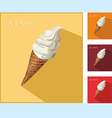 icon with ice cream vector image vector image