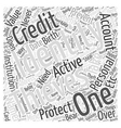 identity theft prevention protection Word Cloud vector image vector image
