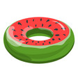 inflatable balloon or lifebuoy watermelon form vector image